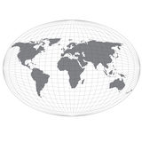 Wire Globe Map. Royalty Free Stock Photo