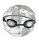 Wire Globe Wearing Goggles Royalty Free Stock Photos