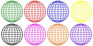 Wire Globes Stock Photography