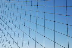 Wire Grid on Blue Gradient Royalty Free Stock Image