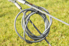 Wire hawser rope Royalty Free Stock Images