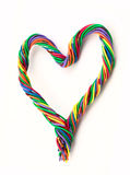 Wire heart Royalty Free Stock Photo