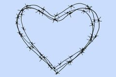 Wire heart Stock Photo