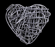 Wire heart metal. Abstract reflection Royalty Free Stock Photo