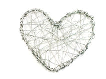 Wire heart symbol on white background Stock Images