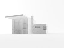 Wire House. A 3d maded house as wireframe Royalty Free Stock Images