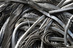 Wire, junk, trash. Pile of junk, wire, metal trash for scrap Royalty Free Stock Photo