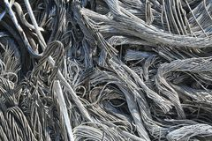 Wire, junk, trash. Pile of junk, wire, metal trash for scrap Royalty Free Stock Images