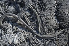 Wire, junk, trash. Pile of junk, wire, metal trash for scrap Royalty Free Stock Photography