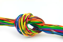 Wire knot Royalty Free Stock Images