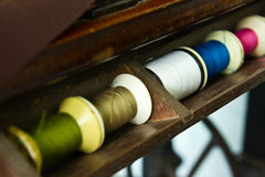 Wire line. On the sewing machine Royalty Free Stock Photos