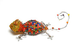 Wire lizard. A very nice African craft work of a lizard Royalty Free Stock Photo