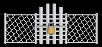 Wire and lock Royalty Free Stock Image