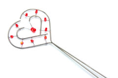 Wire Love Heart Ornament Stock Photography