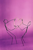 Wire lovers Royalty Free Stock Image