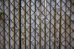 Wire mesh, bamboo used to make fences. royalty free stock photos