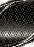 Wire mesh, black background. Vertical Royalty Free Stock Images