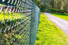 Wire mesh fence fenced plot royalty free stock photography