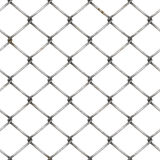 Wire mesh fence at white background Royalty Free Stock Photos