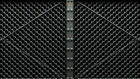 Wire Mesh Gates stock video footage