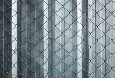 Wire mesh protection in work shop Royalty Free Stock Image