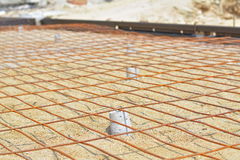 Wire mesh for road construction. Stock Photo
