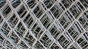 Wire mesh rolls Royalty Free Stock Images