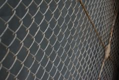 Wire mesh with rust stock image