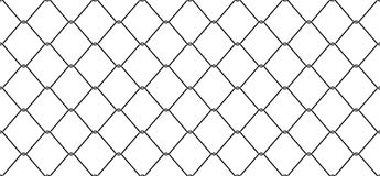Wire Mesh Seamless Pattern vector Chain link Fence isolated wallpaper background Royalty Free Illustration