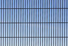 Wire mesh security fence Stock Photo