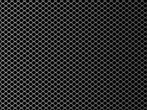 Wire mesh. Vector illustration on black background. Stock Image