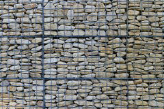 Wire Mesh Wall. Wire Mesh Retaining Wall Background Royalty Free Stock Photography