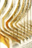 Wire & metal abstract background. Wire & metal with curves as abstract background Royalty Free Stock Image