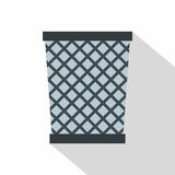 Wire metal bin icon, flat style Stock Images