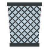 Wire metal bin icon isolated Stock Images