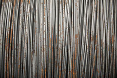 Wire metal with corrosion for armature in bays Stock Photo