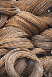 Wire metal with corrosion for armature in bays Stock Image