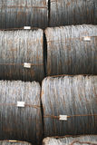 Wire metal with corrosion for armature in bays Royalty Free Stock Photos