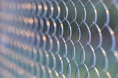 Wire metal netting fence Stock Photos
