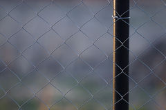 Wire metal netting fence Royalty Free Stock Photos