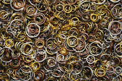 Wire metal rings closeup texture Royalty Free Stock Images