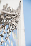 Wire metal rope bridge Stock Photography
