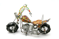 Wire model motor bike. A very nice African craft work of a wire motor bike Stock Image