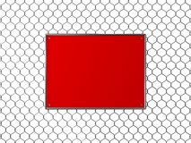 Wire net wall and textfree board Stock Images