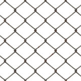 Wire netting. Rusty piece of wire netting - seamless tiling possible Royalty Free Stock Photography