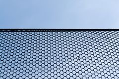 Wire netting. Rabitz wire netting with blue sky at background Stock Photos