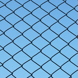 Wire netting. Photo of wire netting with blue sky Stock Photography