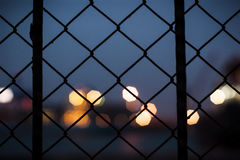 Wire netting silhouette. Stock Images