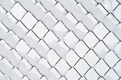 Wire netting in winter. Detail of the wire netting in winter Royalty Free Stock Photo