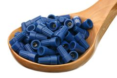 Wire nuts Stock Photo